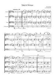 Elgar: Salut d'Amour (string quartet)