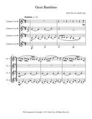 Gesu Bambino (4 Clarinets)