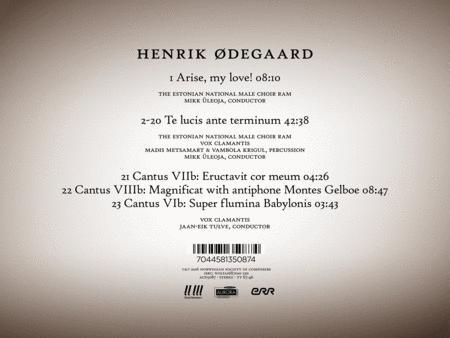 Henrik Odegaard: Te Lucis Ante Terminum