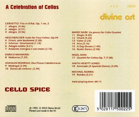 Cello Spice - A Celebration of Cellos