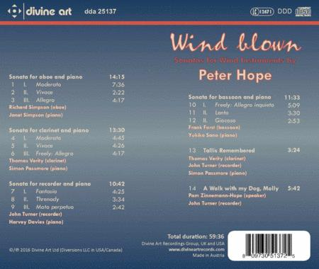 Wind Blown: Sonatas for Wind Instruments by Peter Hope