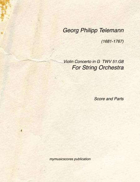 Violin Concerto in G TVW 51:G8
