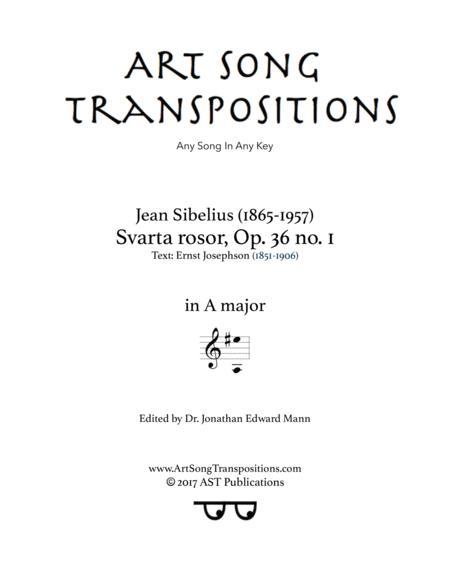 Svarta rosor, Op. 36 no. 1 (A major)