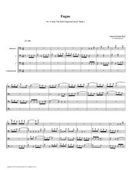 Fugue 11 from Well-Tempered Clavier, Book 2 (Bassoon Quartet)