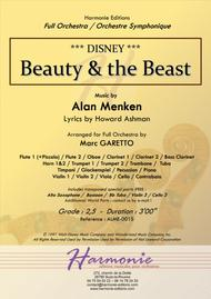 Beauty And The Beast for Full Orchestra - DISNEY - Alan MENKEN - arr. Marc GARETTO