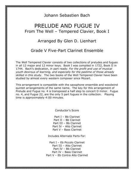 Prelude and Fugue IV (Clarinet)