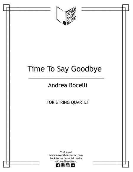 Time To Say Goodbye String Quartet