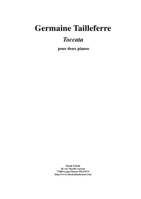 Germaine Tailleferre:  Toccata for two pianos