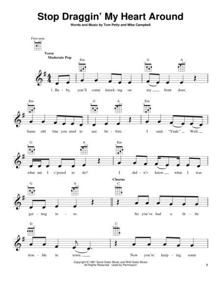 Download Stop Draggin My Heart Around Sheet Music By Tom Petty
