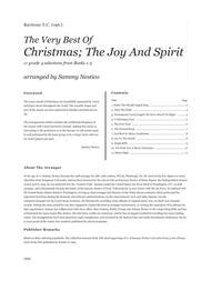 Very Best Of Christmas; The Joy And Spirit (Books 1-3) - Baritone T.C.