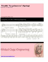 Vivaldi's Spring for Flute Trio