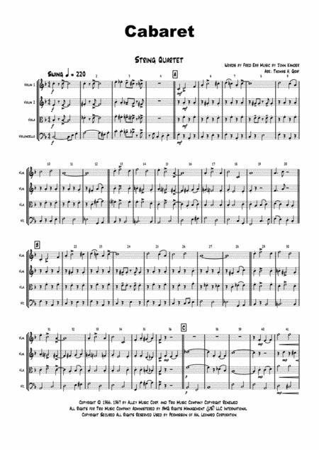 Cabaret - Jazz - Liza Minelli - String Quartet