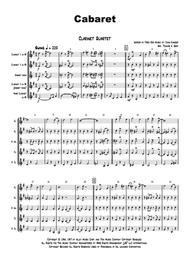 Cabaret - Jazz - Liza Minelli - Clarinet Quartet