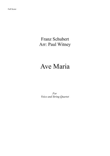 Ave Maria for Voice and String Quartet