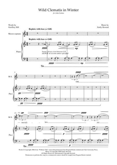 Wild Clematis in Winter (for mezzo-soprano and piano)