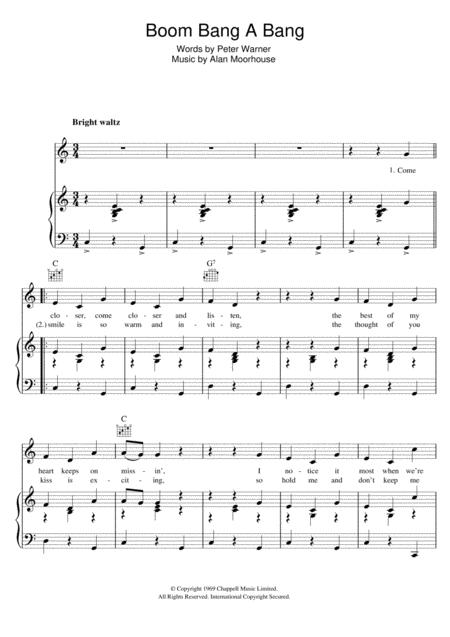 Download Boom Bang A Bang Sheet Music By Lulu Sheet Music Plus
