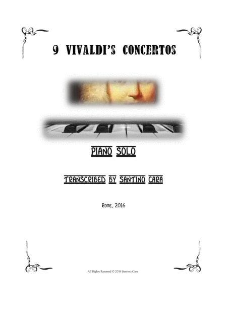 9 Vivaldi's Concertos for Piano solo