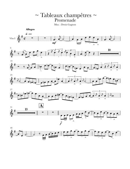 Tableaux champêtres (Promenade) 6 sheet
