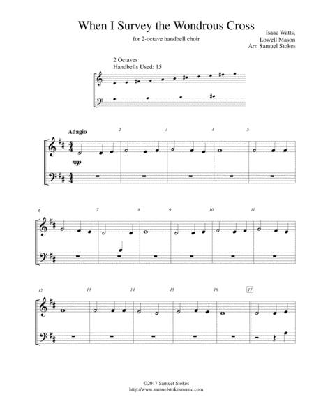 When I Survey the Wondrous Cross - for 2-octave handbell choir