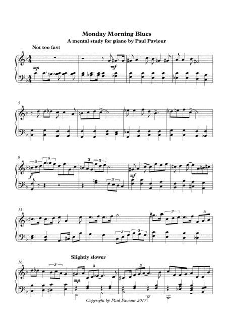 Download Monday Morning Blues Sheet Music By Paul Paviour