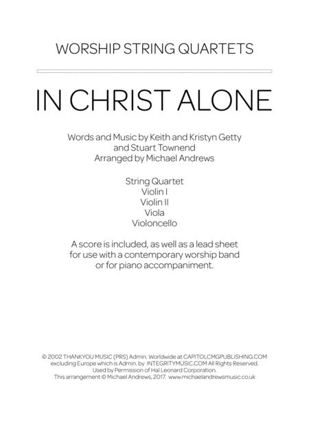 Download In Christ Alone Sheet Music By Avalon - Sheet Music Plus