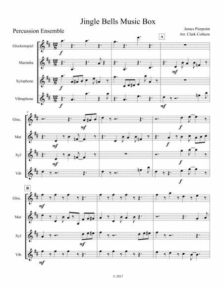 Jingle Bells Music Box (Percussion Ensemble)