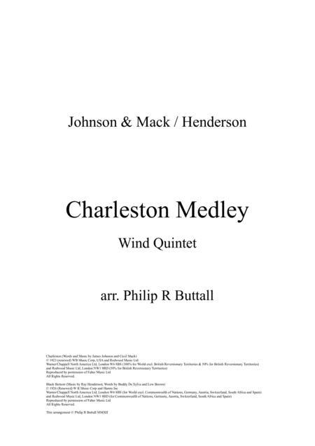 Charleston Medley (Wind Quintet) - Score
