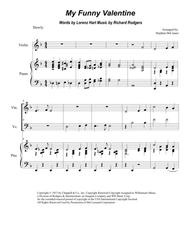 My Funny Valentine (Duet for Violin and Cello)