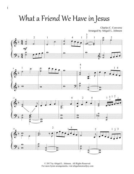 What a Friend We Have in Jesus (Intermediate Piano Solo)