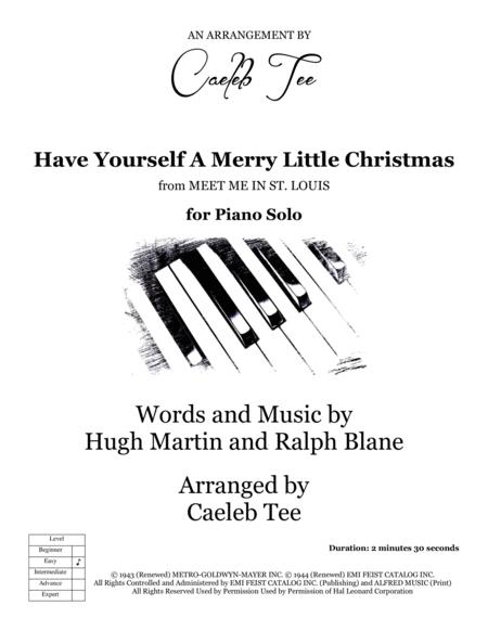 Have Yourself A Merry Little Christmas - easy piano solo arranged by Caeleb Tee