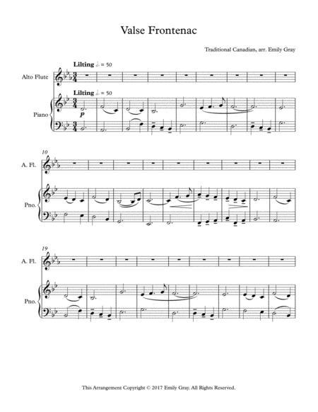 Valse Frontenac (Alto Flute and Piano)