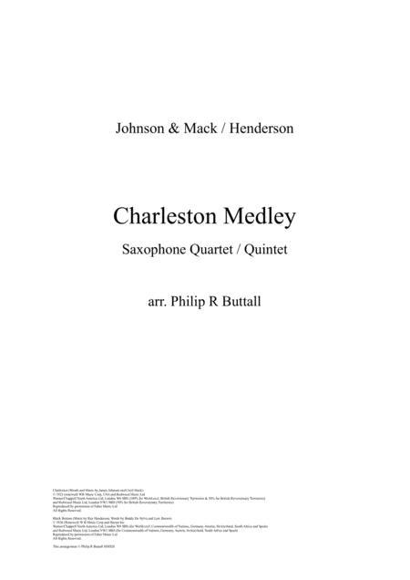 Charleston Medley (Saxophone Quartet / Quintet) - Score