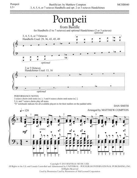 Pompeii (Handbells 3-6 Octaves)