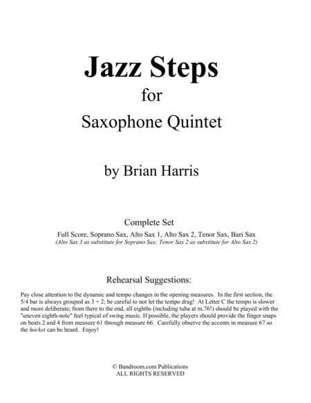 JAZZ STEPS for sax quintet (Score and parts)