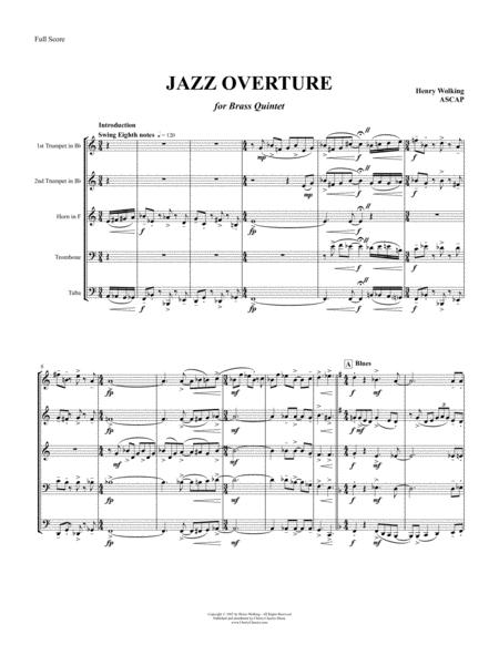 Jazz Overture for Brass Quintet