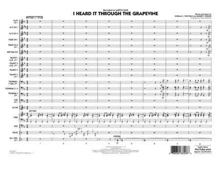 I Heard It Through the Grapevine - Conductor Score (Full Score)