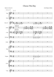 Choose This Day (Score & instrumental parts)