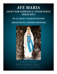 Ave Maria (Duet for Soprano and Tenor Solo - High Key)