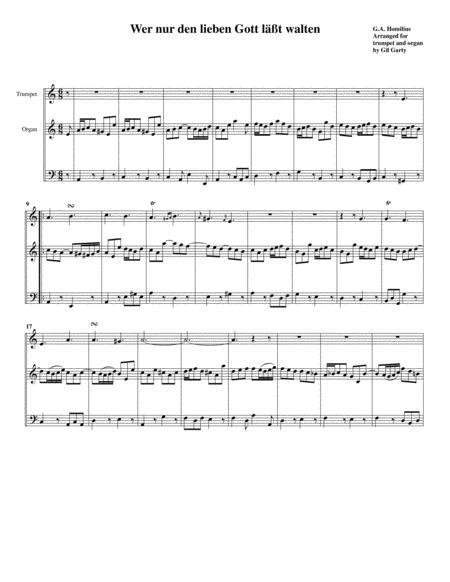 Wer nur den lieben Gott läßt walten (arrangement for trumpet and organ)