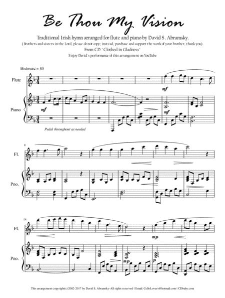 Be Thou My Vision (arr. for flute and piano)