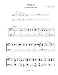 America (My Country, 'Tis of Thee) - for 3-octave handbell choir