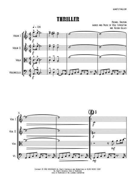 Thriller - String Quartet