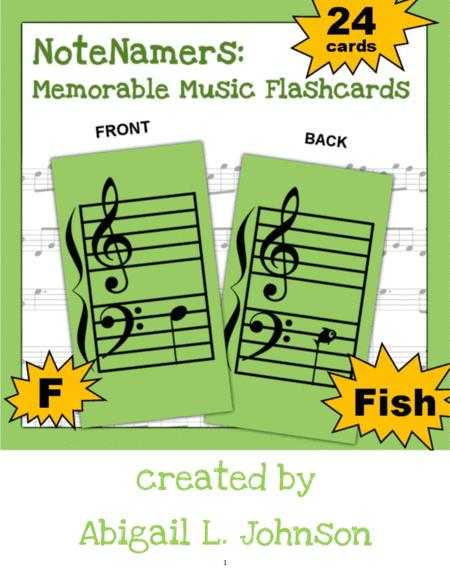 image relating to Printable Music Flashcards titled Down load NoteNamers: Unforgettable New music Flashcards (printable