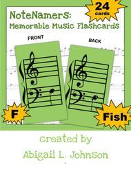 NoteNamers: Memorable Music Flashcards (printable)