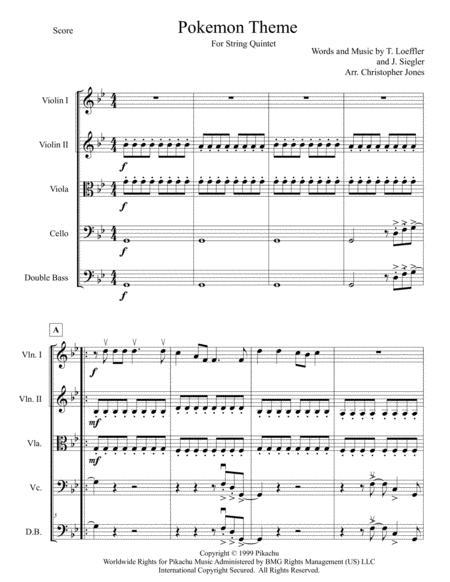 Pokemon Theme for String Quintet