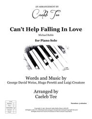 Can't Help Falling In Love - piano solo arranged by Caeleb Tee