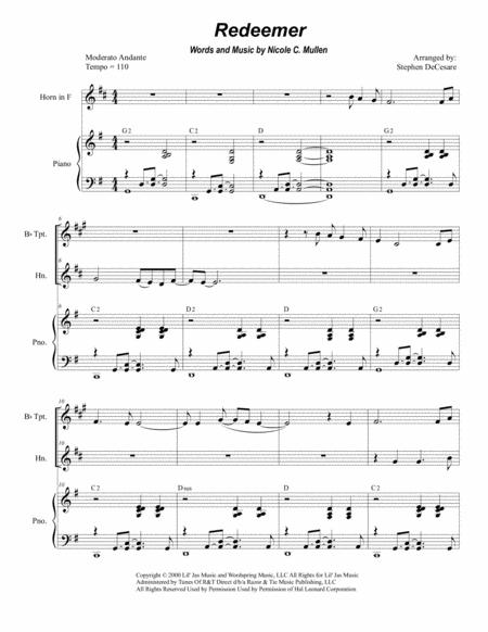 Redeemer (Duet for Bb-Trumpet and French Horn)