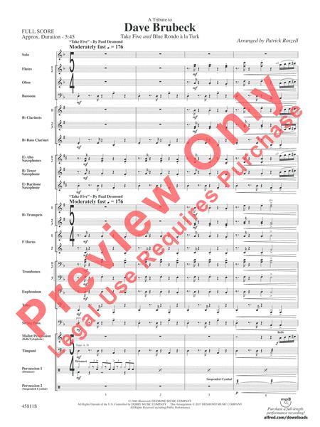 dave brubeck blue rondo ala turk sheet music pdf