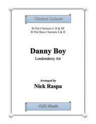 Danny Boy for Clarinet Quintet - Score