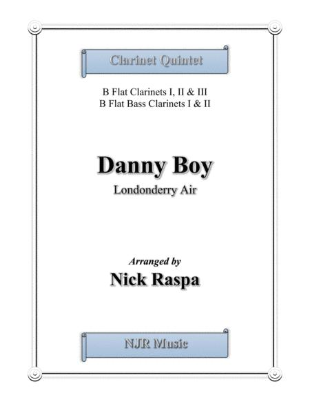 Danny Boy for Clarinet Quintet - Score and parts